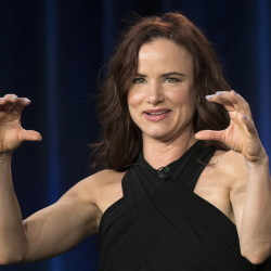"Juliette Lewis meets the press at a conference for the new ABC series ""Secrets & Lies,"" which premieres Sunday."