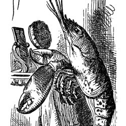 "John Tenniel's 1866 illustration for ""The Lobster Quadrille"" from ""Alice's Adventures in Wonderland."""
