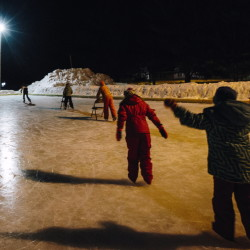 Bruce Fox's legacy to the town of Norway is the outdoor ice rink that now bears his name and will continue to be maintained to the standards he set.