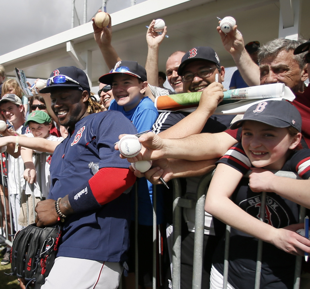 Hanley Ramirez is a spring-training hit with fans in his return to the Boston Red Sox organization. He will remain a hit if his offense comes through and he adapts to a new position in the outfield.