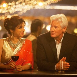 "Lillete Dubey and Richard Gere in ""The Second Best Exotic Marigold Hotel."""