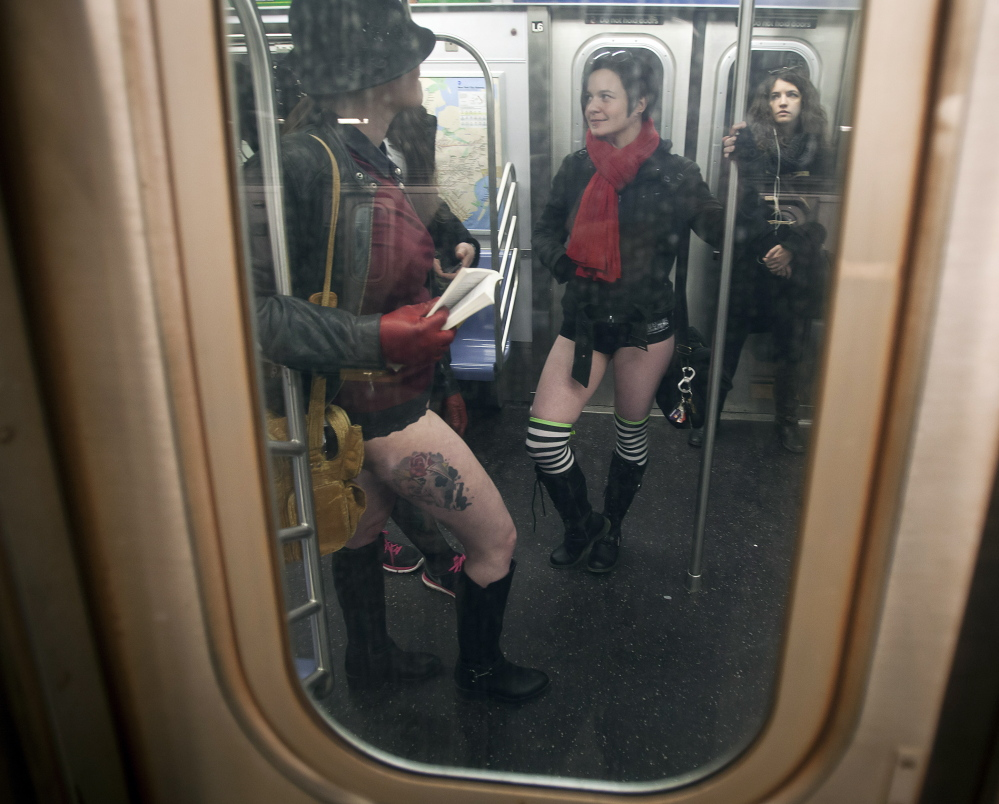 """The """"No Pants Subway Ride"""" might not be the biggest turnoff for New Yorkers who often endure the rudest and crudest behavior from fellow riders. But the Metropolitan Transportation Authority now beckons passengers to bring their manners aboard."""