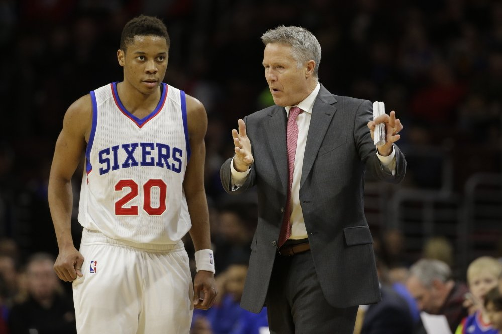 From the start, even before the NBA draft last summer, Philadelphia 76ers Coach Brett Brown, a South Portland native, has been impressed by Tim Frazier the person as much as Tim Frazier the basketball player.
