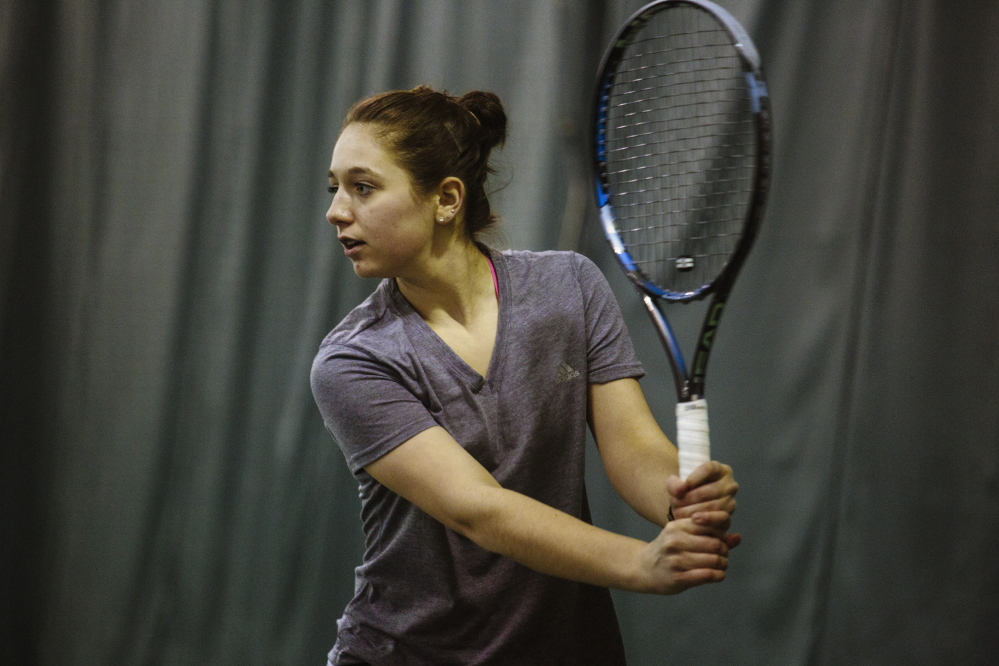 """""""I can't express enough how much I want to play meaningful high school tennis,"""" said 15-year-old Rosemary Campanella, who has been active in the sport since first grade. Her petition to the Maine Principals' Association seeks to allow players such as herself the opportunity to compete as full-fledged members of other schools' teams."""