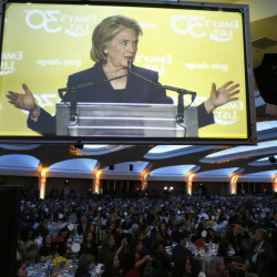 Hillary Rodham Clinton, shown addressing EMILY's List 30th Anniversary Gala in Washington on Wednesday, tweeted that she wants the emails made public.