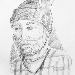 This sketch shows a man who is reported to have exposed himself to a woman in Hallowell last month.