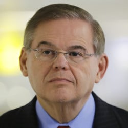 A statement released Friday by Sen. Robert Menendez says many false allegations have been made about his ties with Dr. Salomon Melgen, who is a friend and donor to Menendez's campaigns. Attorney General Eric Holder is declining to say if he has approved corruption charges against Menendez. 2013 Associated Press file photo