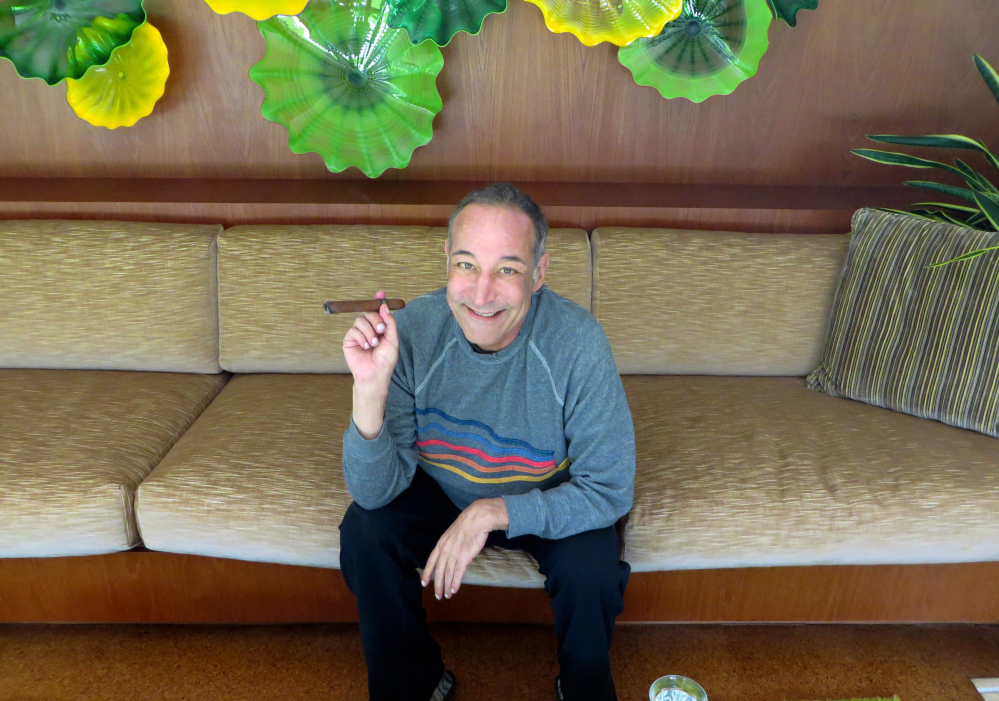 """Sam Simon, co-creator of """"The Simpsons,"""" at his home in Pacific Palisades, Calif., made a midlife career shift into philanthropy and channeled much of his personal fortune into social causes."""