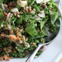 Chopped kale and lentil winter salad manages to feel both energizing and comforting at the same time.