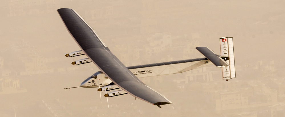 The Solar Impulse 2 has completed the first leg of a planned round-the-world trip, going from Oman to India.