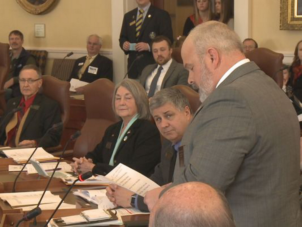 "State Sen. Michael Willette, R-Presque Isle, apologizes Wednesday on the floor of the Maine Senate for ""completely inappropriate"" comments about President Obama.  ""We need to show restraint, especially myself in this instance,"" he said."