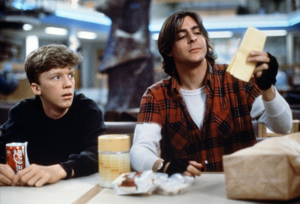 "Anthony Michael Hall, left, and Judd Nelson in ""The Breakfast Club."""