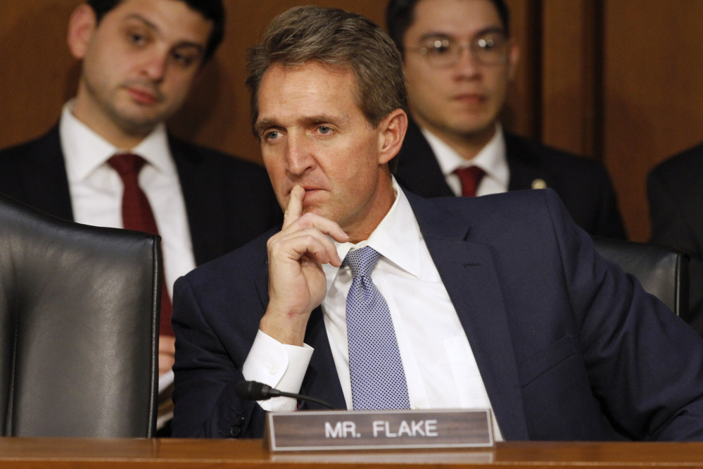 """Sen. Jeff Flake, R-Ariz., said of lawmakers' emails, """"... there is a reason that you protect constituent correspondence, so it's a little different kettle of fish."""""""