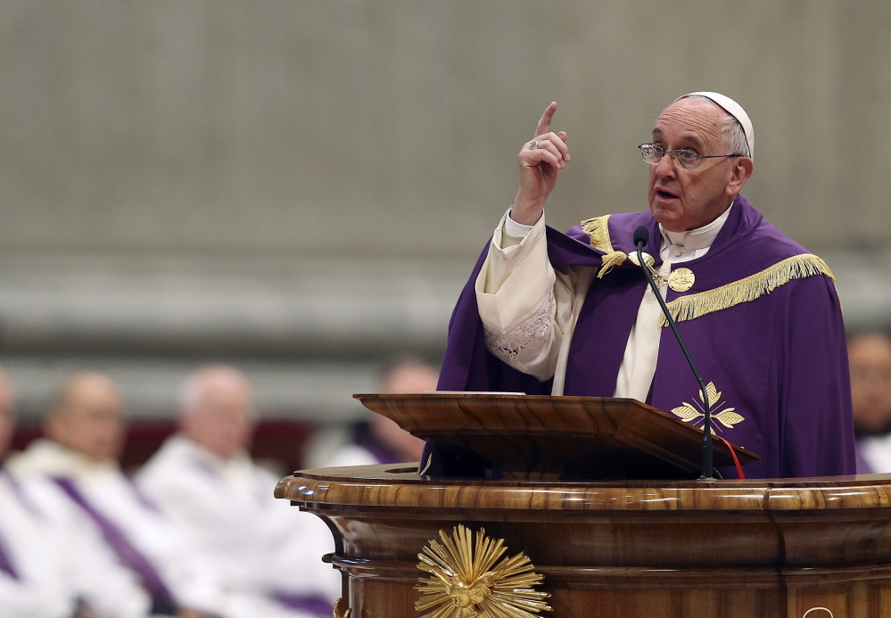 "Pope Francis speaks Friday in St. Peter's Basilica at the Vatican. In an interview, he noted, ""I have the sensation that my pontificate will be brief: Four or five years. ... Or two or three!"""