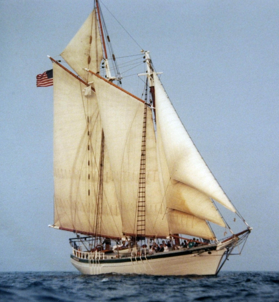 Contributed photo, Friday, July 14, 2000: The schooner Harvey Gamage.