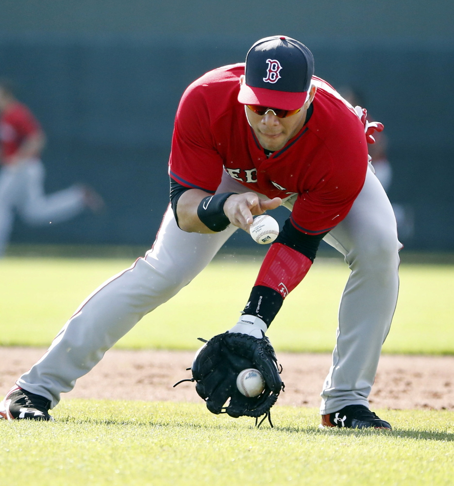 When the games count, young infielder Yoan Moncada will only have to field one ball at a time, but this time of year in Fort Myers, Fla., anything may go.