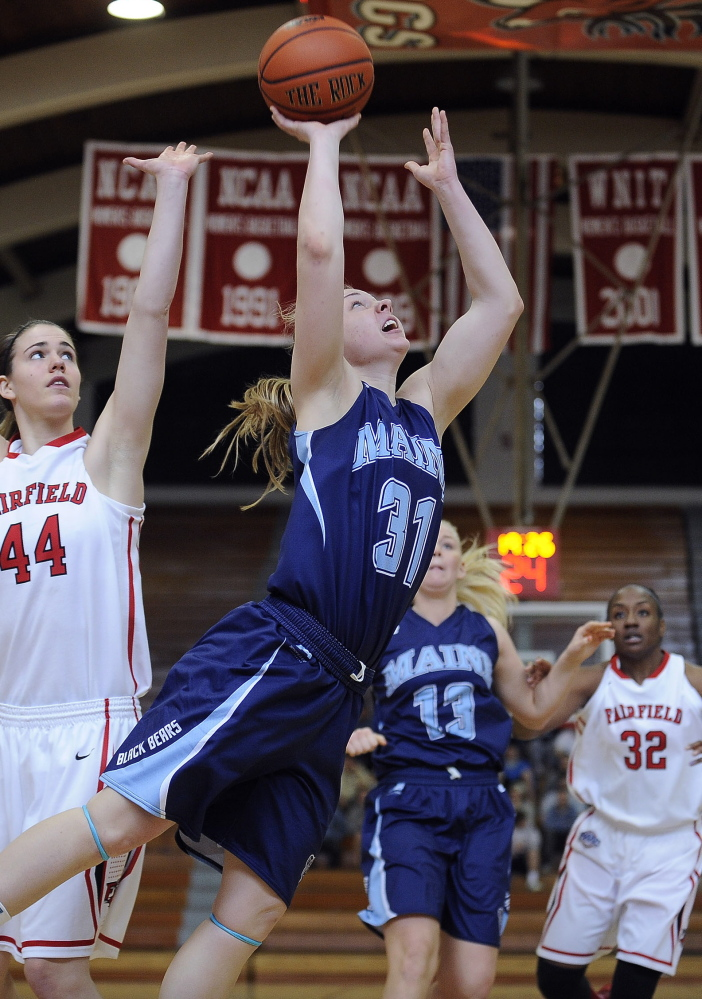 Liz Wood, at the end of her junior season, leads UMaine in minutes per game, and that's a good thing. The team responds when she's on the court, to the tune of a 23-8 record heading into Friday night's WNIT opening-round game at Villanova.