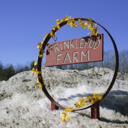 The name Frinklepod Farm was inspired by a children's book by Graeme Base.