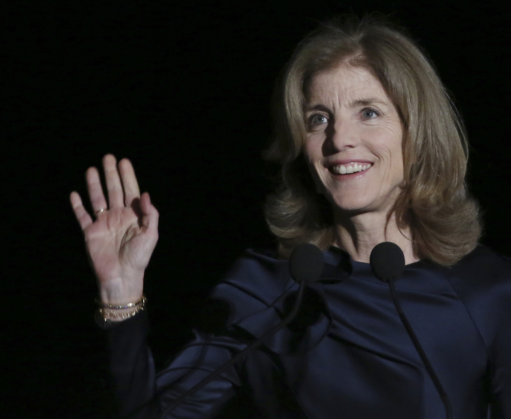 U.S. Ambassador to Japan Caroline Kennedy speaks in Tokyo on Wednesday.