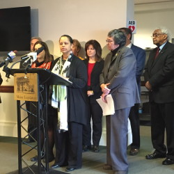 "Rachel Talbot Ross, president of the NAACP's Portland chapter, said at a news conference Friday that ""Looking the other way, staying silent, is easy."""