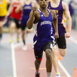 Hany Ramadan of Deering accomplished a huge personal goal last month, not only winning the 400 at the Class A state meet but setting a record of 49.78 seconds. He also won the state championship in the 200.