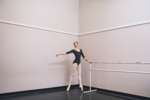 Isabel Wolfe practices in a studio at the Maine State Ballet in Falmouth. The Falmouth High School senior has been accepted at Yale, which she chose for its excellent science programs and the opportunity to continue her dance studies, too. Prestige and exclusivity were factors in her decision, too, she says, but not the most important ones.