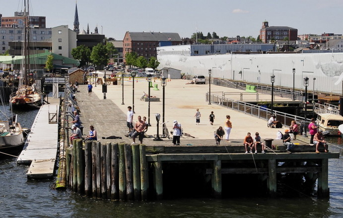 The Maine State Pier, owned by the city of Portland, overlooks the harbor and can accommodate about 3,000 music fans. The city rents the pier to Waterfront Concerts, which lined up four major concerts for the location last summer.