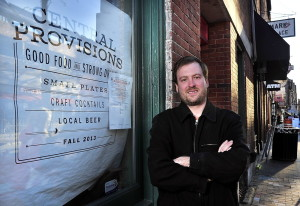 Chris Gould, shown outside Central Provisions, plans to team with Mike Smith on an Italian restaurant in the old Borealis Bakery & Bistro site at 182 Ocean Ave.