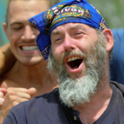 "Dan Foley of Gorham competes during the sixth episode of ""Survivor,"" which aired Wednesday night. Photo: Screen grab courtesy CBS"
