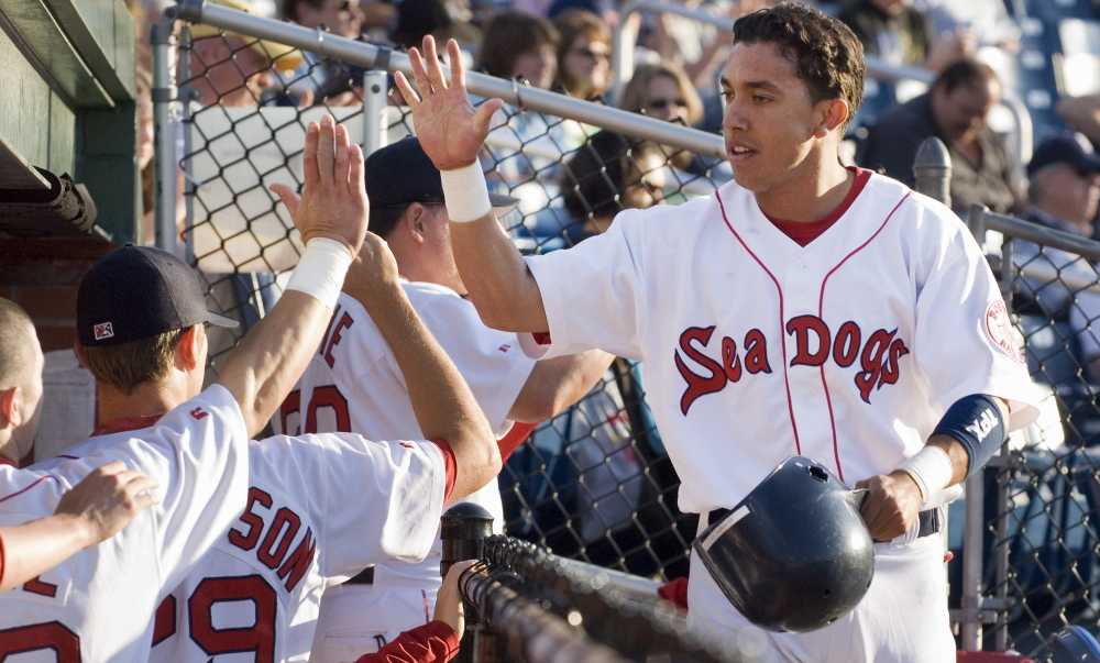 Iggy Suarez, who spent parts of four seasons with the Portland Sea Dogs, is now, at 34, a minor league hitting coach in the Boston Red Sox organization, and someday could be wearing that Sea Dogs uniform again.