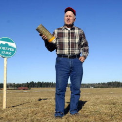 Vassalboro farmer Peter Bragdon plans to make fire logs from excess hay that often is disposed of by burning it in a field.