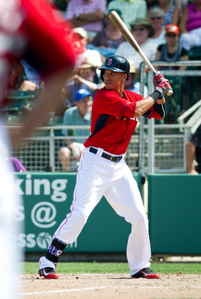 Mookie Betts keeps proving … that he can hit … that he can play center field … that he belongs on the Boston Red Sox. And beyond all that, he continues to show a determination to keep learning. It's enough to impress Shane Victorino, who may sit a lot this season, in part because of Betts' ability.