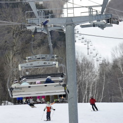 At Sunday River in Newry, skiers glided down the slopes and rode the chairlifts like always, even less than a week after a chairlift malfunction at Sugarloaf injured seven people.