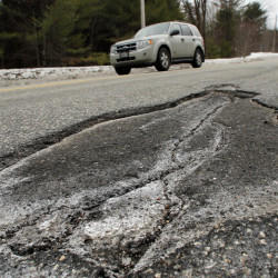 Potholes will be particularly bad this season, and drivers are urged to slow down.