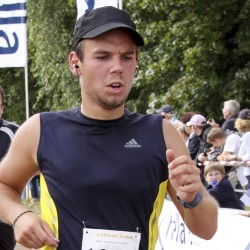 Andreas Lubitz competes in a run in Germany last fall. The  Germanwings co-pilot took medical leave from an elite flight school in 2009 and told his girlfriend he was planning a specatcular gesture.