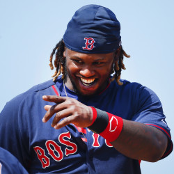 Hanley Ramirez is happy. That's the main thing. He's a veteran now, a former National League batting champion with a will to win and determination to learn a new position.