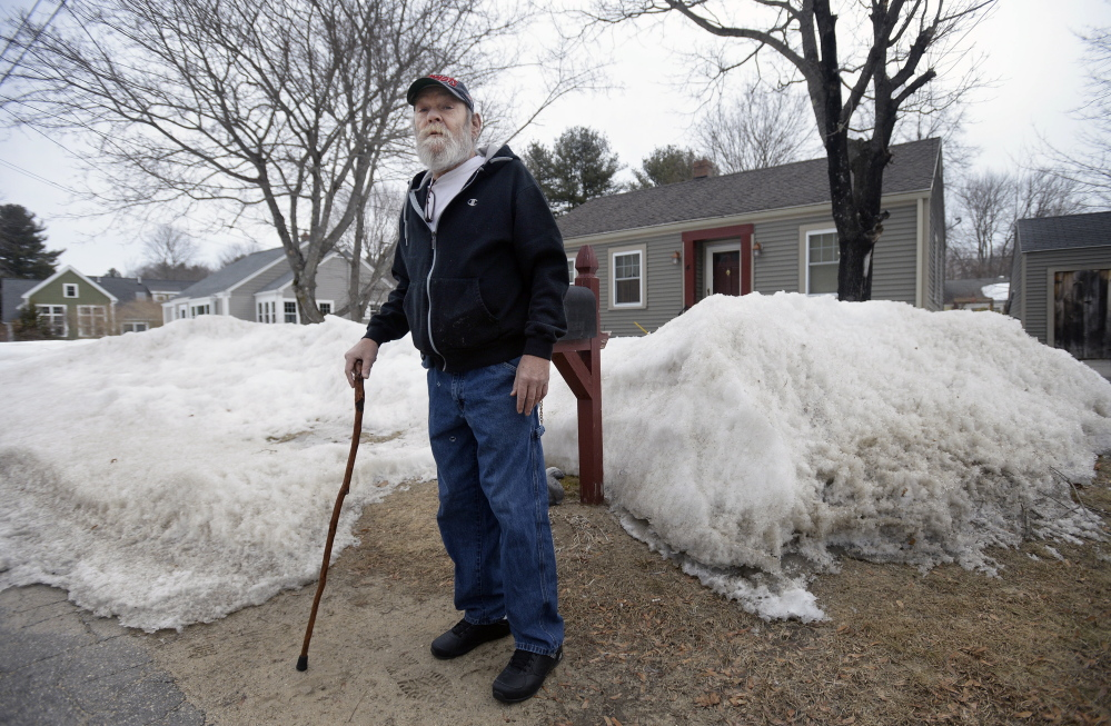"""Raoul Paradis, a former truck driver and land surveyor, lives with his brother and sister-in-law in Kennebunk while he waits to get a spot in subsidized housing, but they are moving to Florida. """"I've been on a waiting list for years,"""" he says. """"Pretty soon I'll be staying at a homeless shelter in Portland because ... I've got nowhere else to go."""""""