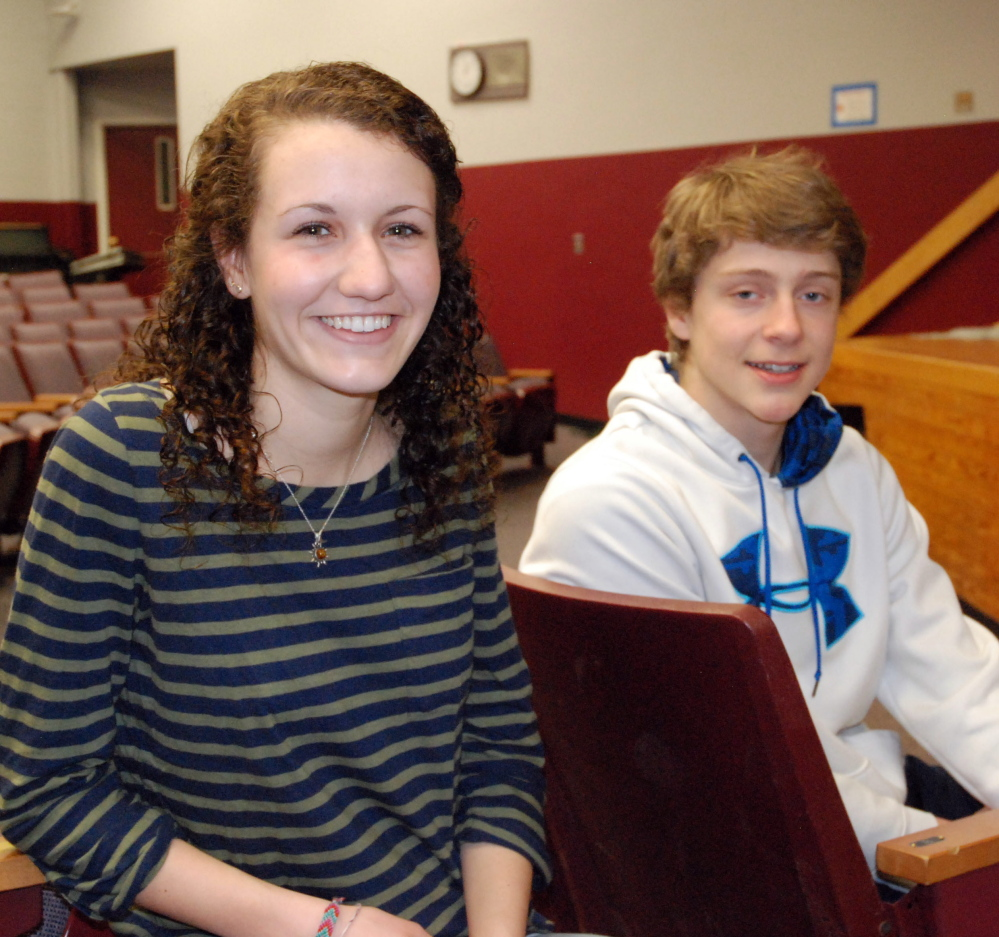 Reilly Boyle and Charlie Durfee, both seniors at Wells High School, will receive the Western Maine Conference Citizenship Award.