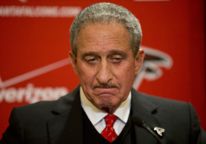 The Associated Press In this Dec. 29, 2014, file photo, Atlanta Falcons owner Arthur Blank pauses while speaking at a news conference in Atlanta.