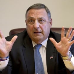 Gov. Paul LePage is again pushing for more drug enforcement agents, prosecutors and judges.