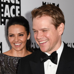 Luciana Barroso, left, and Matt Damon attend the 65th Annual ACE Eddie Awards at the Beverly Hilton Hotel on Jan. 30. The Associated Press