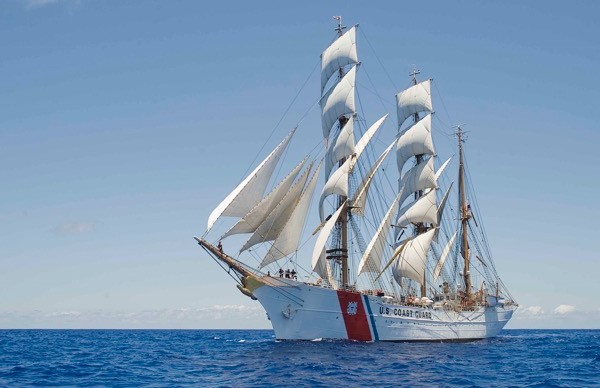 Among the tall ships scheduled to come to Portland in July for Iberdrola USA Celebrates Tall Ships Portland will be the Coast Guard barque Eagle. The ships will tie up on Portland's waterfront and will be open for public tours.