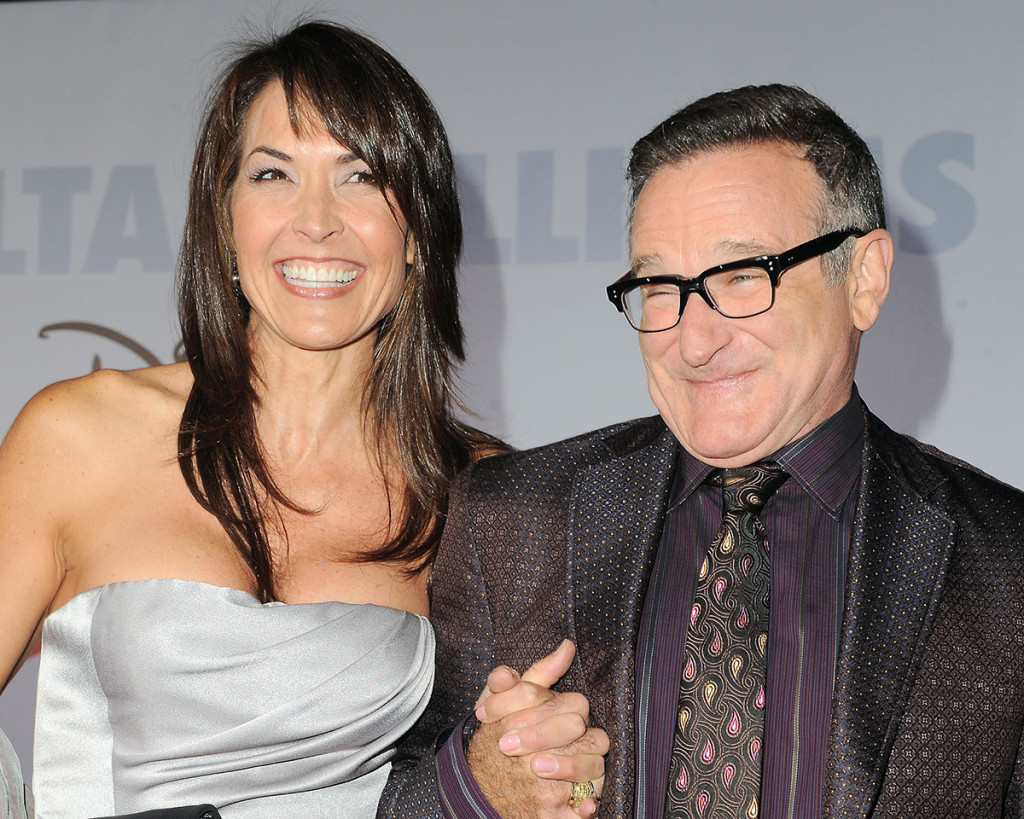 "Robin Williams and his wife, Susan Schneider, appear at the premiere of ""Old Dogs"" in Los Angeles in this Nov. 9, 2009, photo. The Associated Press"