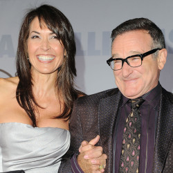 "Robin Williams and  wife Susan Schneider appear at the premiere of ""Old Dogs"" in Los Angeles in this Nov. 9, 2009, photo. The Associated Press"