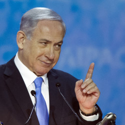 "Israeli Prime Minister Benjamin Netanyahu addresses the 2015 American Israel Public Affairs Committee (AIPAC) Policy Conference in Washington on Monday: ""I have a moral obligation to speak up in the face of these dangers while there is still time to avert them."" The Associated Press"