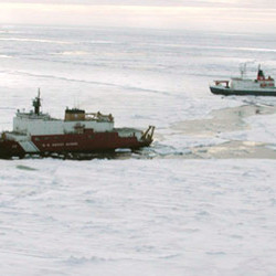 Deep below the frozen surface of the Arctic Ocean, scientists aboard a U.S. Coast Guard icebreaker d..