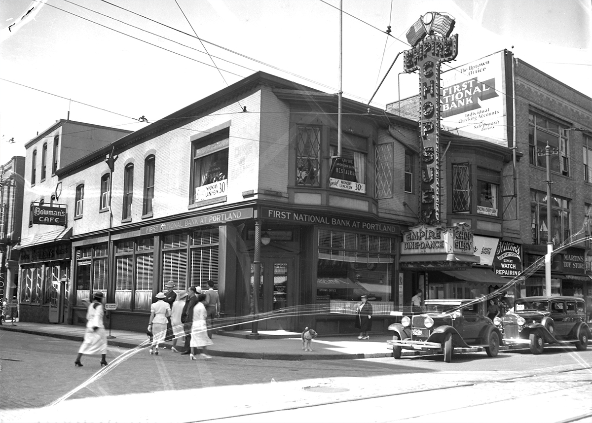 Flashback the empire restaurant in 1937 and 2015 the for Kitchen library portland