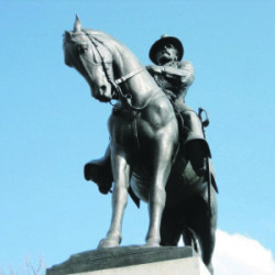 A statue depicting Maj. Gen. Oliver Otis Howard, a native of Leeds, on East Cemetery Hill in Gettysburg, Pa. Photo courtesy of Gettysburg Daily