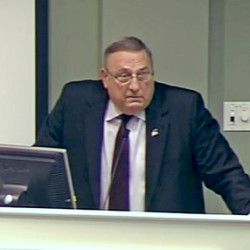 Gov. LePage made an appearance at a local budget forum in Cumberland.