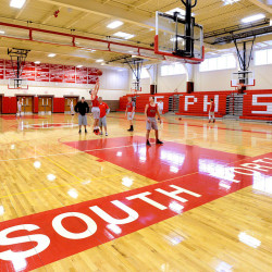 South Portland High School's gymnasium, photographed in 2014.